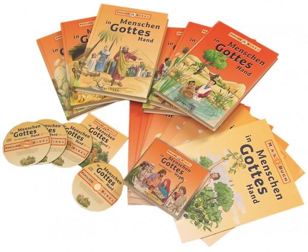 Menschen in Gottes Hand, Set Bände 1-8 und Hörbücher 1-8 und Malbücher 1-8
