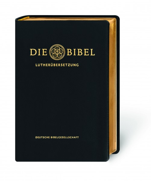 Lutherbibel mit Apokryphen – Leder, schwarz