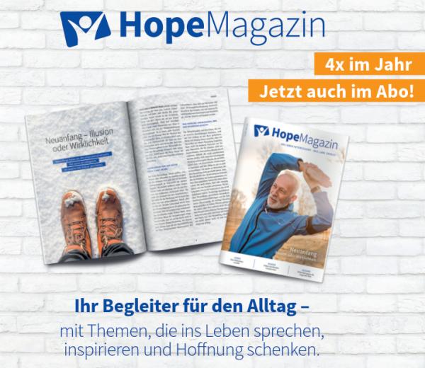Abo Hope Magazin (5 Hefte)