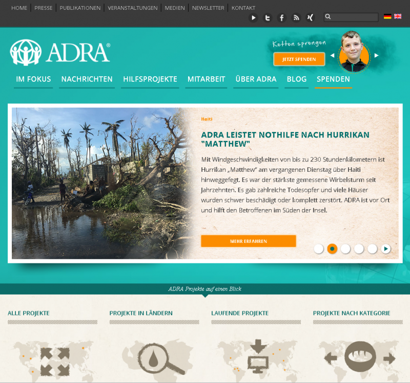 ADRA-Homepage_Screenshot
