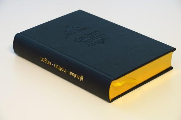 Liederbuch glauben-hoffen-singen (Leder, schwarz, Goldschnitt)