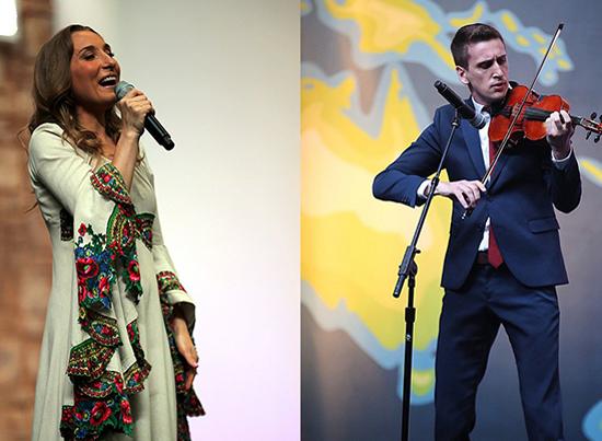 Sängerin und Geiger