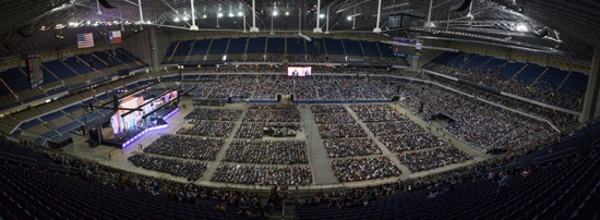 Totale Ansicht Alamodome